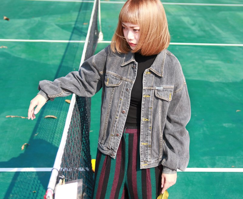 Back to Green :: GUESS Chuijian era gray vintage denim (DJ-11)