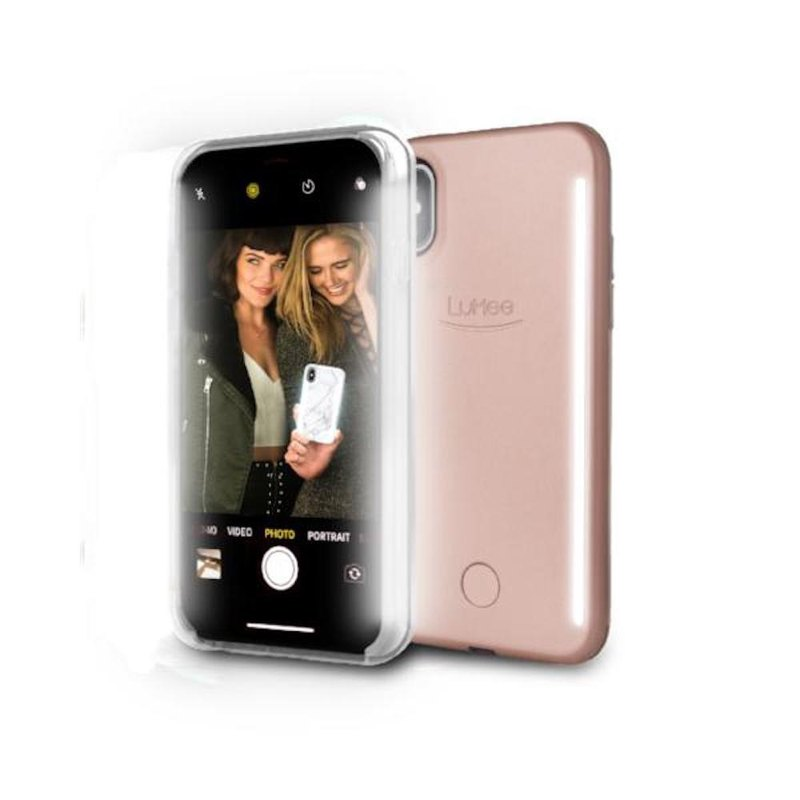 LUMEE Duo double-sided LED fill light phone case iPhone X, XS (rose powder)