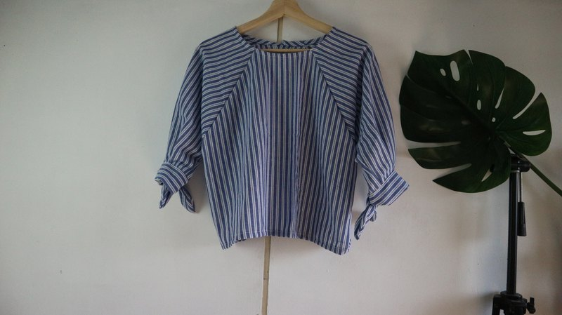 loose blouse with bow
