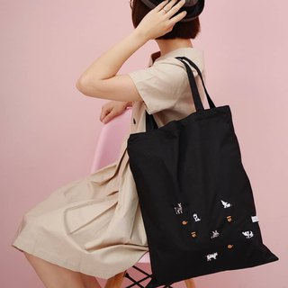 Tote Bag : Cat Meao Meao (Black)