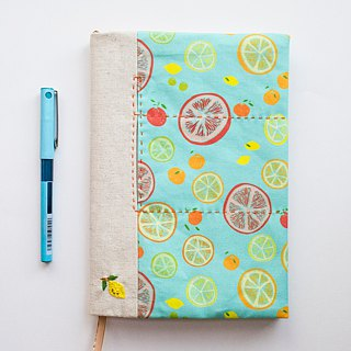 Citrus Summer - adjustable A5 fabric bookcover