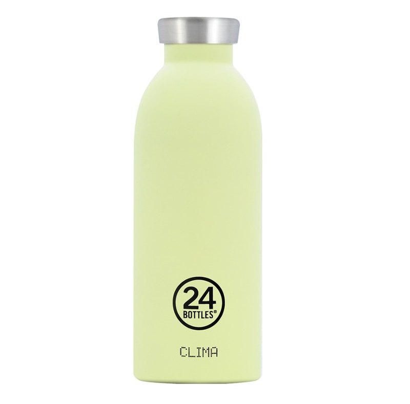 Italy 24Bottles [CLIMA hot and cold insulation series] pistachio - 500ml stainless steel bottle