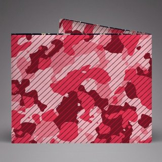 Supervek pink camouflage hand-made paper wallet / wallet / short clip Tyvek environmental protection material waterproof tear