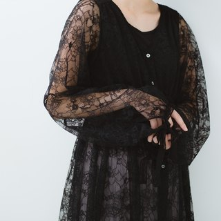 Lacy Maxi Dress (black)