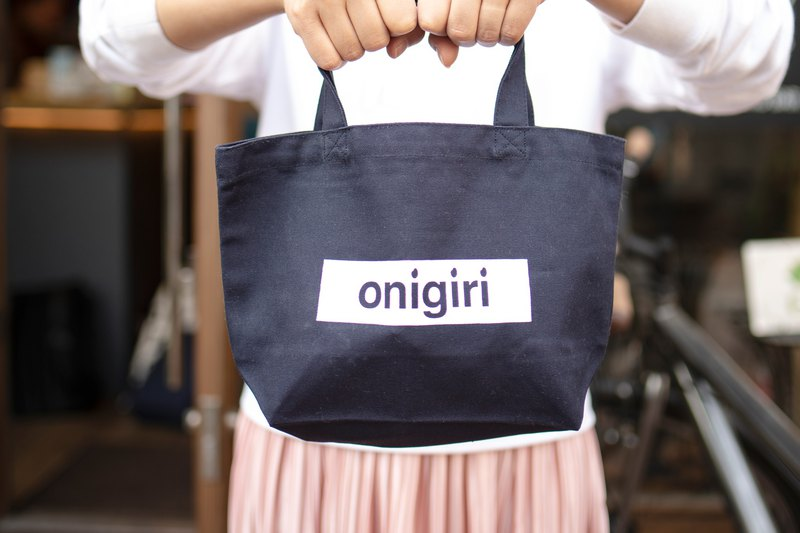 Rice ball tote bag