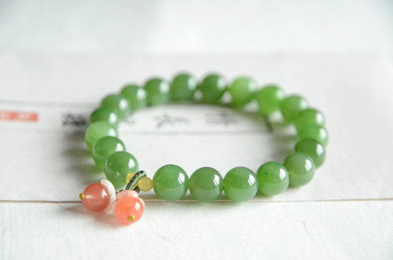 [碧玉妆] Natural Jasper 9.3mm Cute Bracelet Bracelet