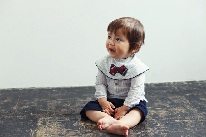 MARLMARL Baby Bib Collet Collar Series (Little Gentleman)