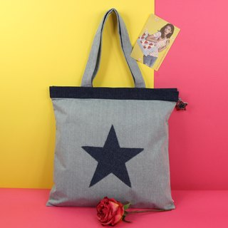 Star of the Show Denim Tote Bag