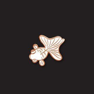 White Goldfish Pin