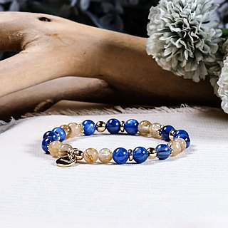 String series brass kyanite titanium crystal bracelet natural ore