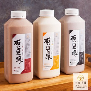 [Ocean Handmade] Original bean brewing manual fresh soy milk optional 3 cans (900cc / bottle)