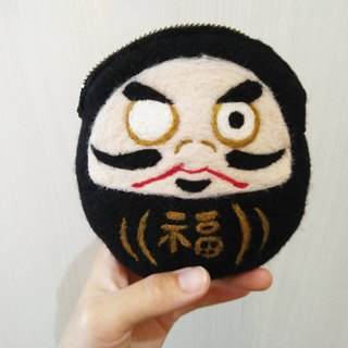 Fushen tumbler wool felt handmade coin purse made in Taiwan