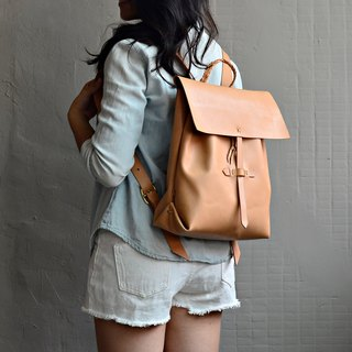 [Lumberjack home wooden door latch] leather backpack vegetable tanned leather color travel abroad to adjust the length to find free Valentine's Day gift