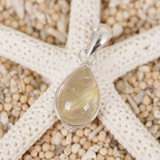 Golden color power! Rutilquarts pendant top
