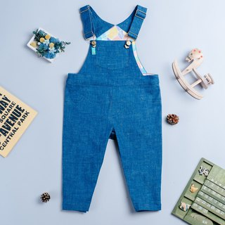 Bag fart strap trousers - Marseille geometry hand made children's wear suspenders children's children's pants