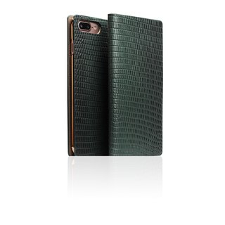 SLG Design iPhone 8 / 7 Plus D3 ILL Lizard Side Leather Leather Case - Green