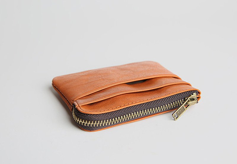 Genuine Leather Simple Corn Wallet