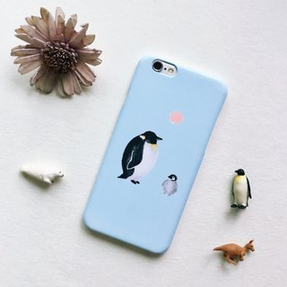 Zoo series penguin water blue matte phone matte hard shell