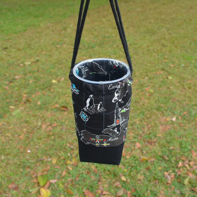 Traveling around the world beverage bag/water bottle holder/beverage carrier