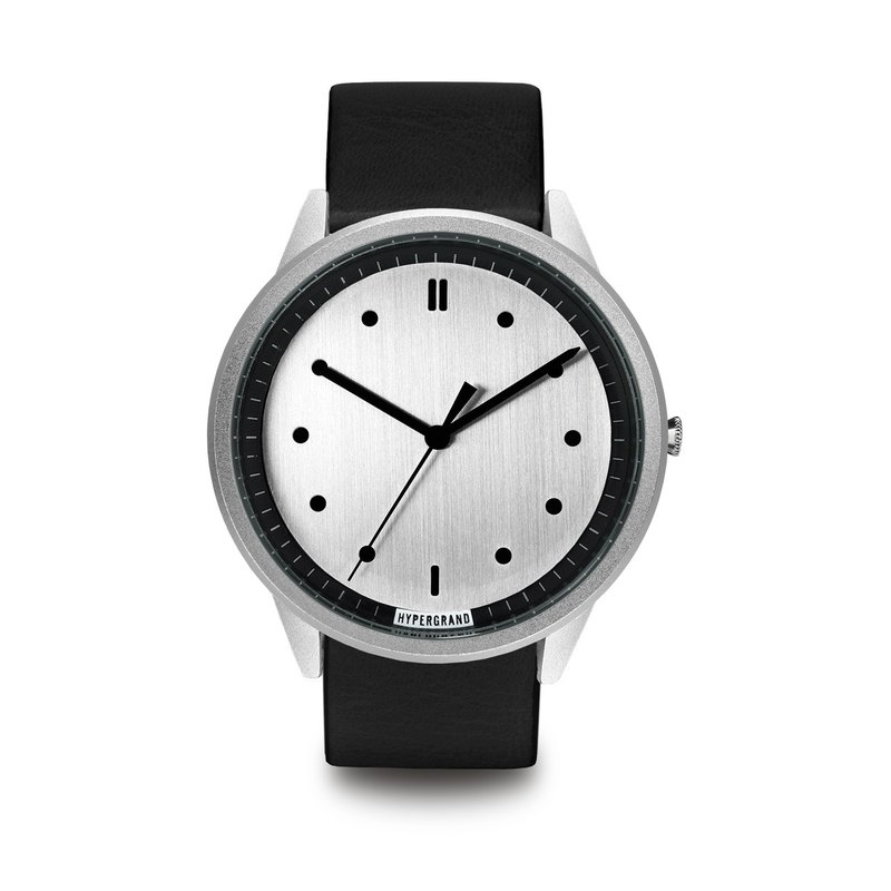 HYPERGRAND - 02 Basic Series - Silver Dial Black Leather Watch