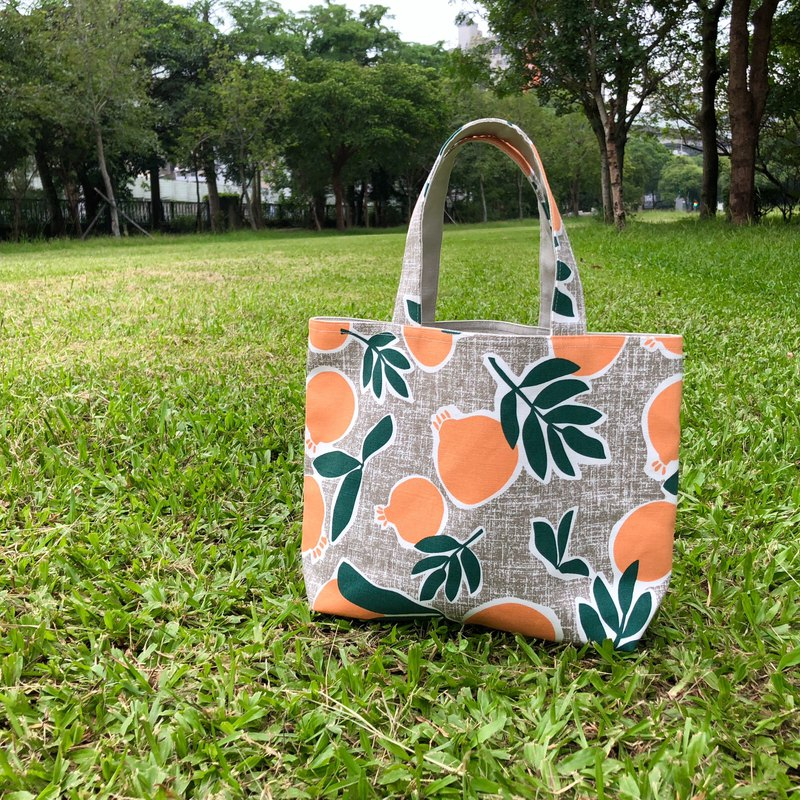 Idyllic citrus small tote bag small meal bag shopping bag