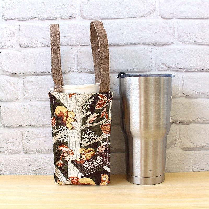 松鼠飲料提袋(大) 環保杯袋 冰霸杯袋