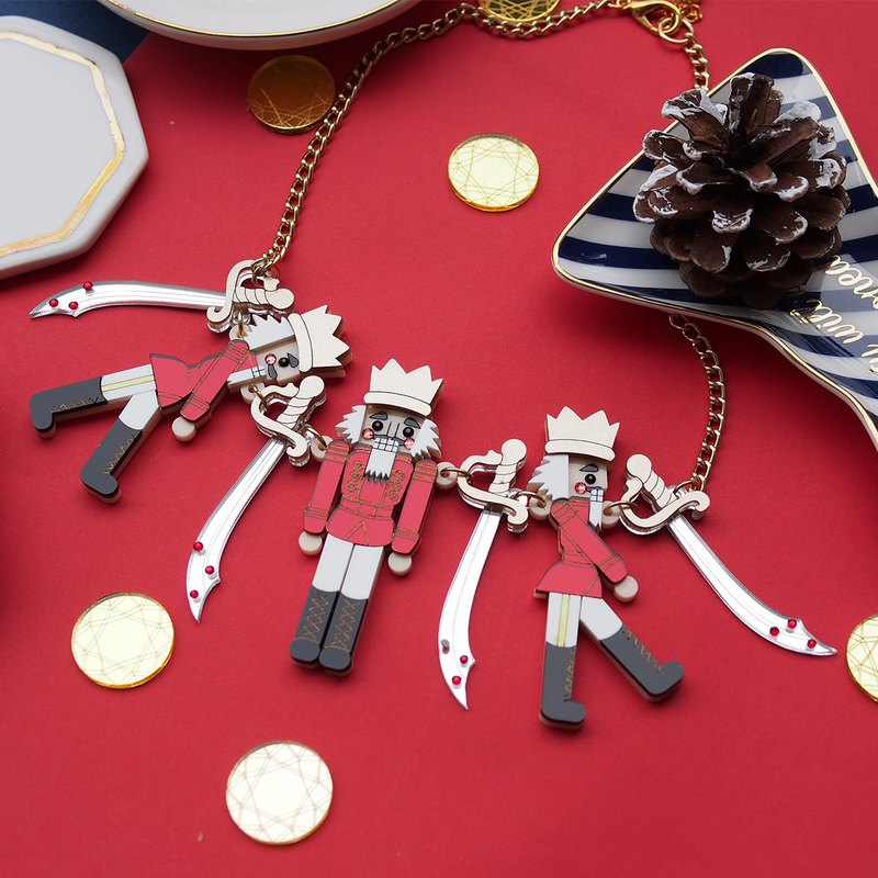 Nutcracker Statement Necklace - Red