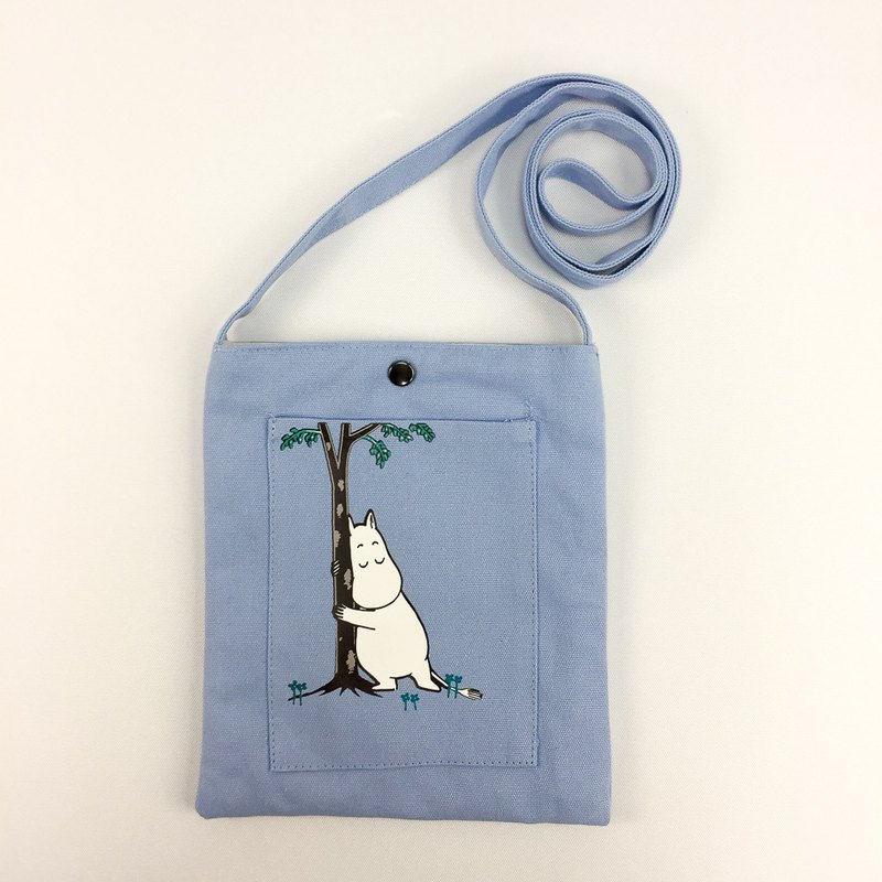 Moomin 噜噜米 authorized - color mobile phone bag (water blue / navy)