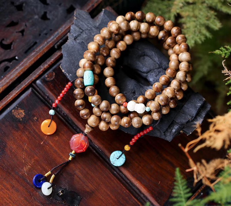 [New welfare price] original natural Mani 涝 incense beads / 108 / with honey wax South red atmosphere
