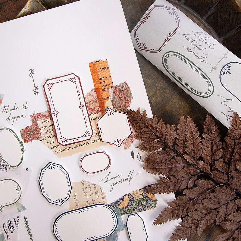 5cm紙膠帶 - 採集美好 Collect Beautiful Moments - 自帶離型紙