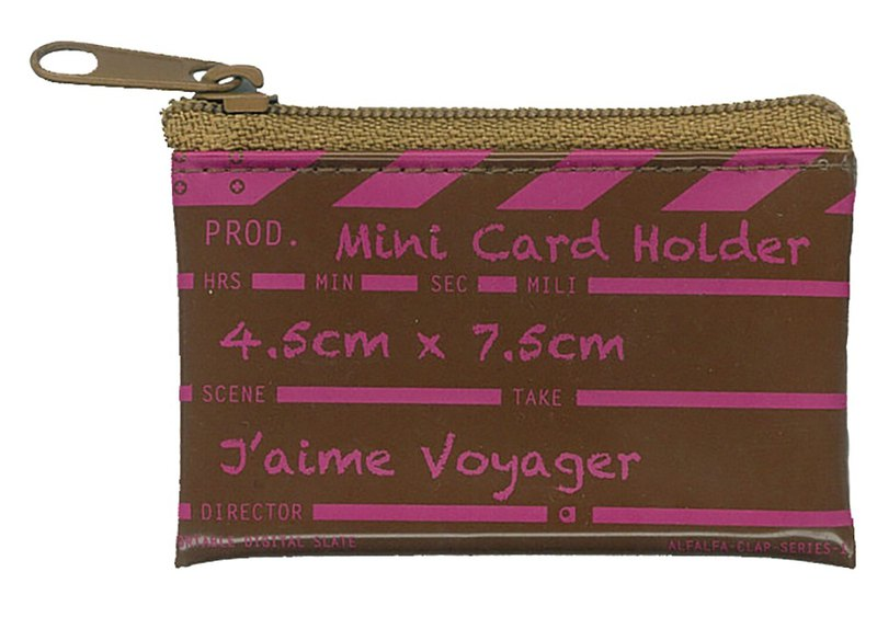 Director clap Mini card holder - Brown