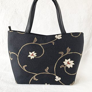 Flower Arabesque Nishijin Textile Tote Bag