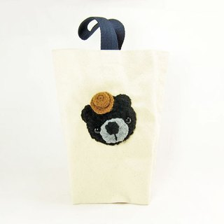 Black bear / drink bag kettle bag