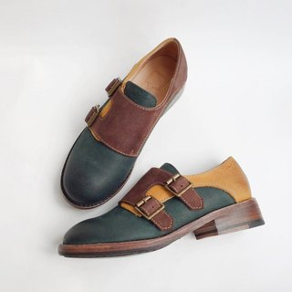 Painting # 8009 || classic leather Mink shoes elves Mengke ||