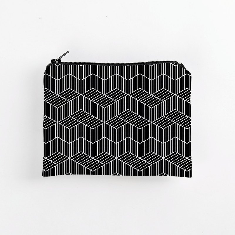 Black and white geometric / waterproof coin purse