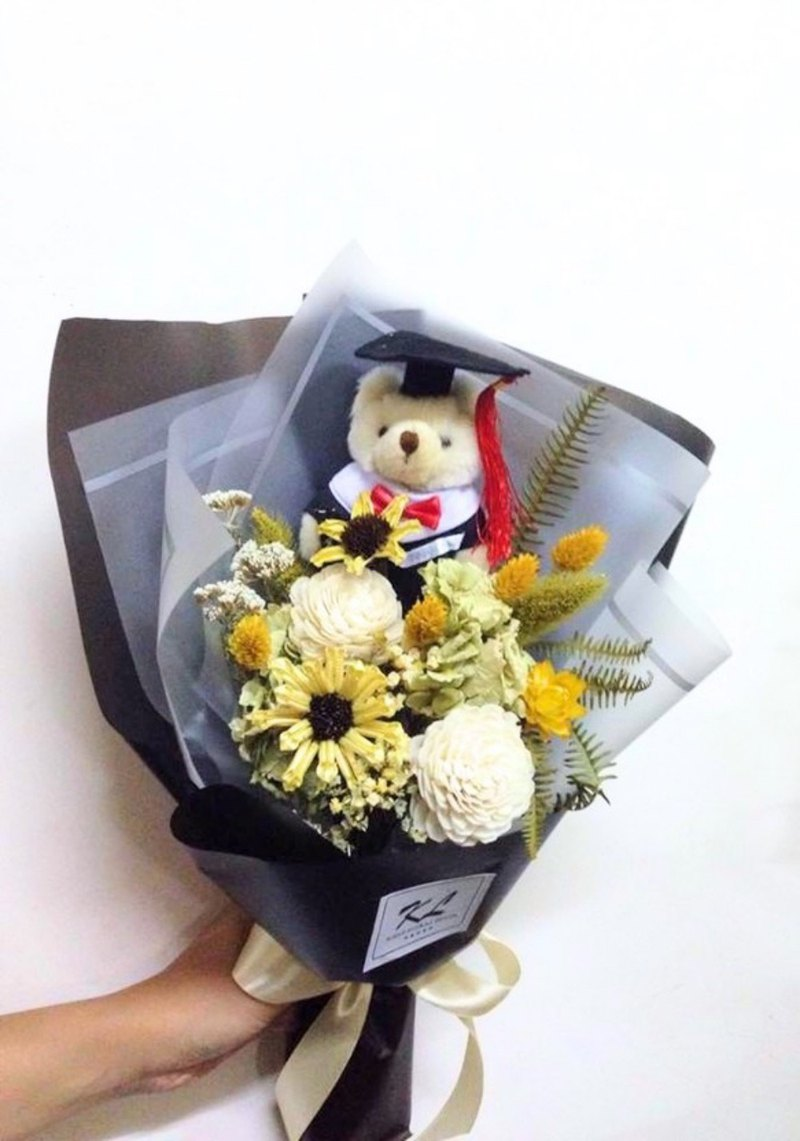 Graduation season sunflower dry bouquet happy graduation