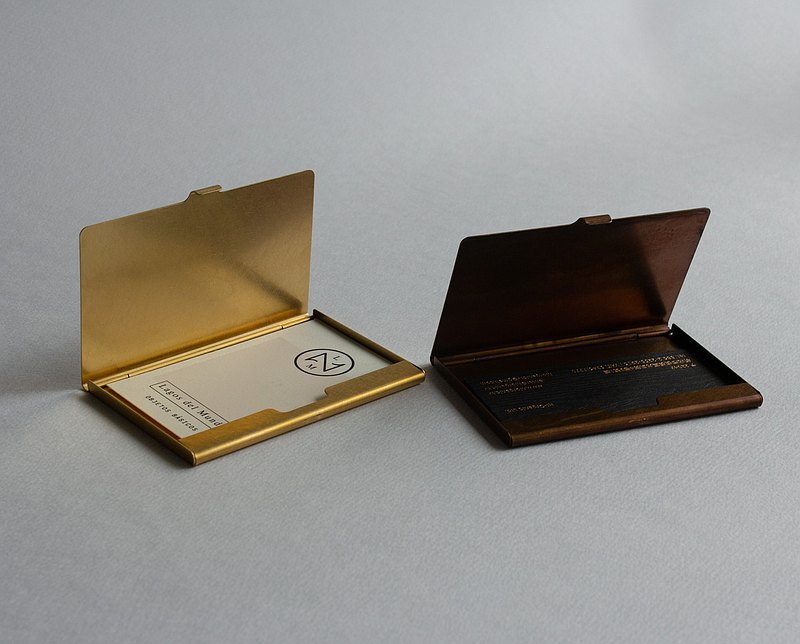 Japan PICUS pure brass business card case thin