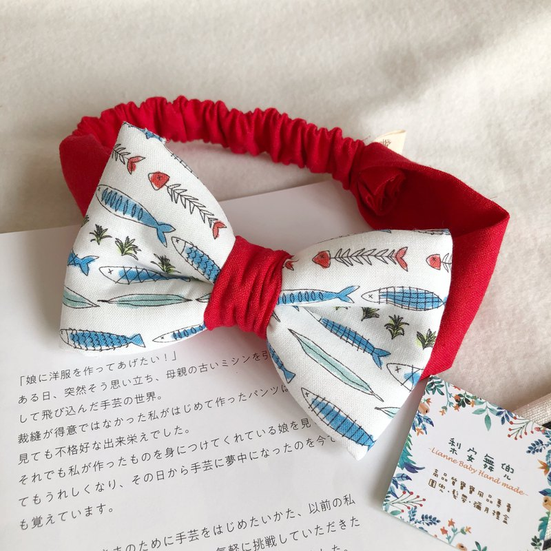 Small fish carrot handmade baby stereo bow hair band