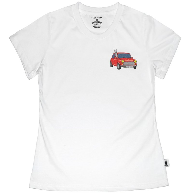 British Fashion Brand -Baker Street- Little Stamp:Driving Alpaca Printed T-shirt