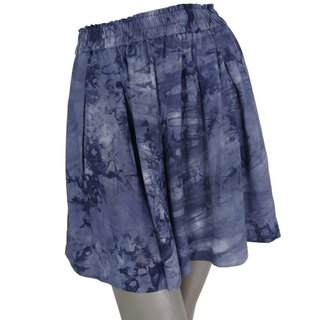 Uneven dyeing beach culottes pants <navy wash>