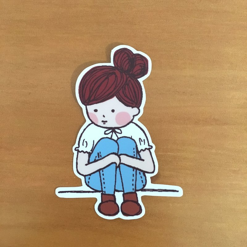"""Art of fish"" character series of medium-sized waterproof stickers -SM0039"