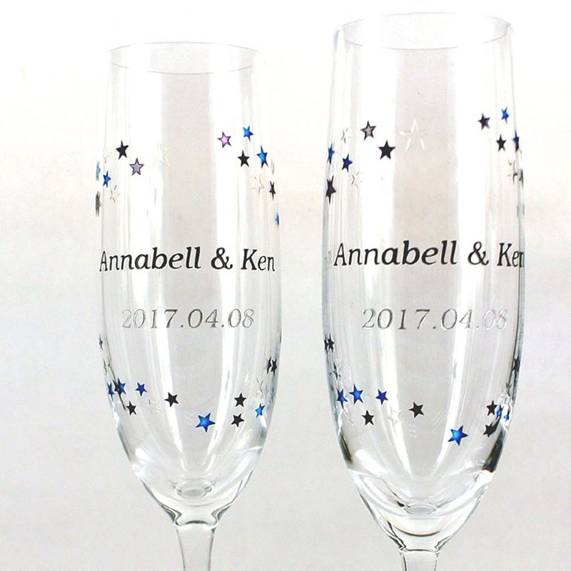 Champagne Glasses - Galaxy ( including casting & coloring names & date )