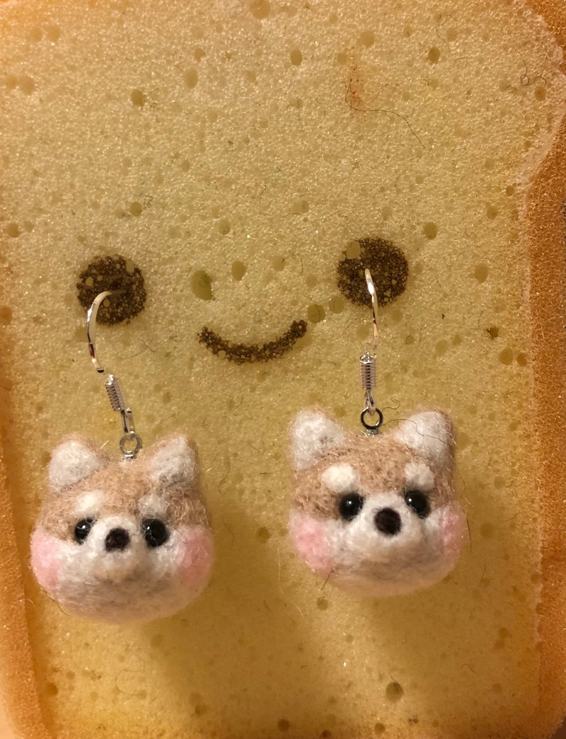 Wool Feld Shiba Inui Silver Hook 925 Earrings