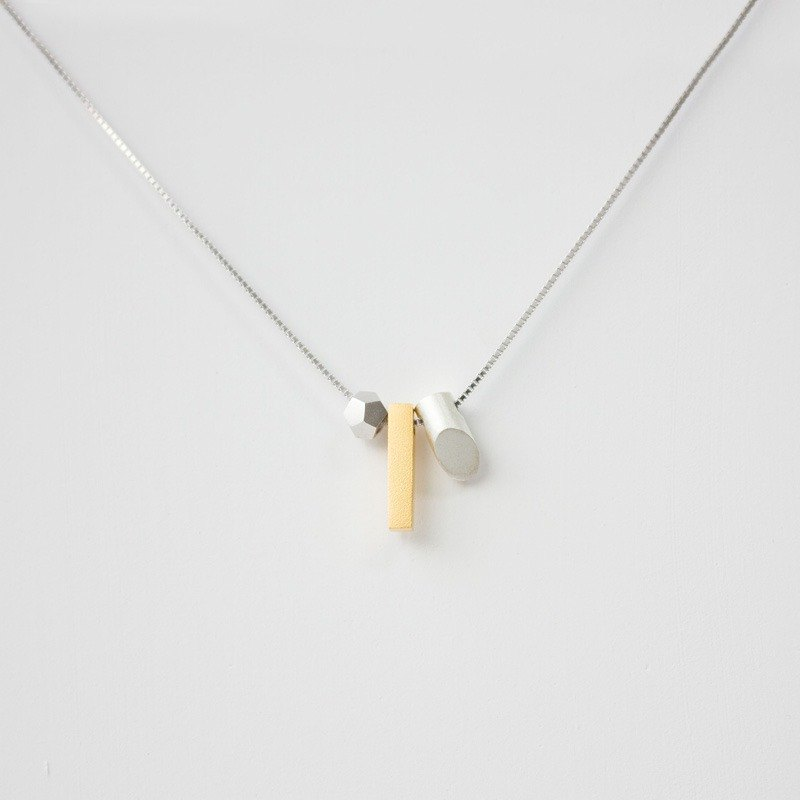 Independent original design 925 silver plated 18k gold geometry diy art modern clavicle necklace simple tide