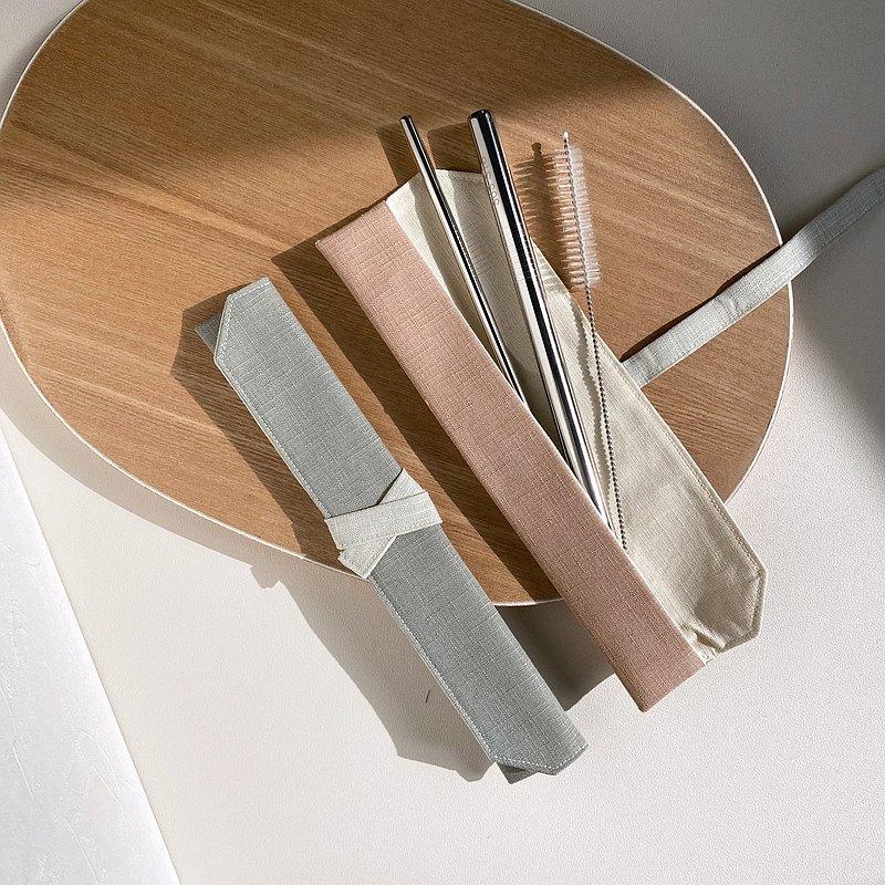 吸管套 含環保吸管組 不鏽鋼吸管 餐具袋 餐具套  客製化繡字