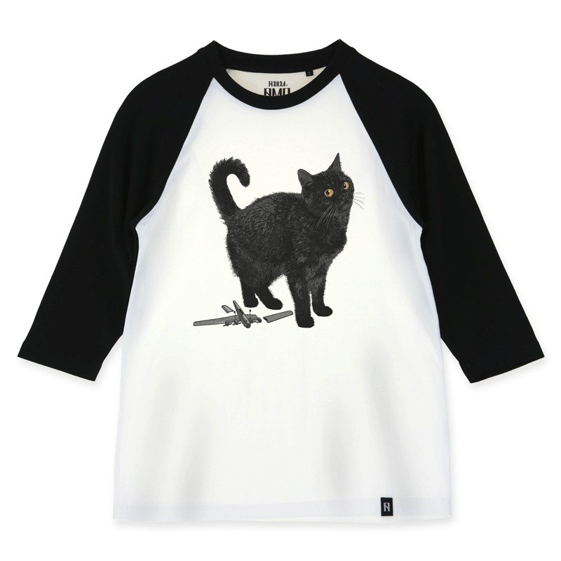 AMOOriginal  cotton adult 3/4 raglan T-shirt/AKE/Cat Who Broken A Toy But