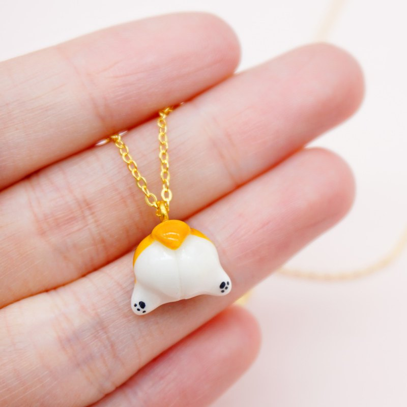 S925 sterling silver corgi dog ass necklace super cure dog animal pendant birthday anniversary new year gift