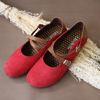 [Forest score] round hair worn shoes _ red
