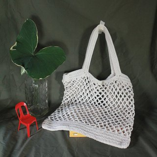 White Net bag ,Market bag ,White Crochet Tote bag ,Shopping bag