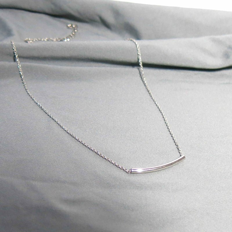 Sterling Silver Necklace - Smile Good Morning Clavicle Necklace
